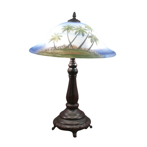 Tiffany table lamp - The beach