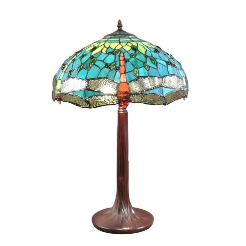 Tiffany lamp green dragonflies