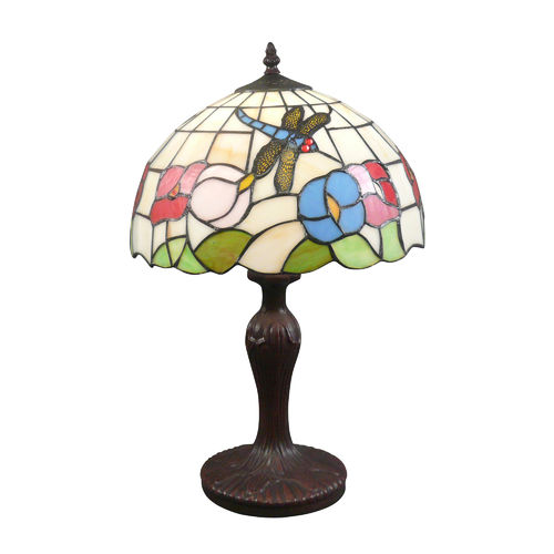 Tiffany lamp dragonfly with white background