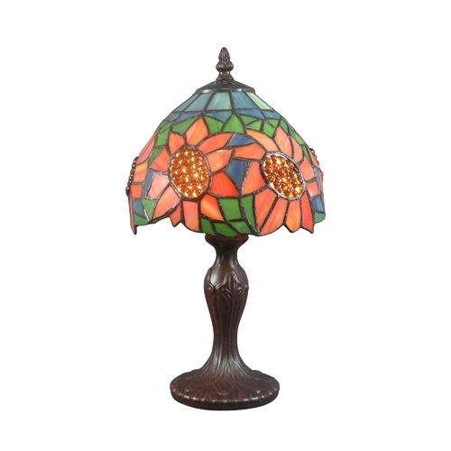 Lampe Tiffany floral au décor de tournesols