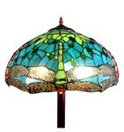 Tiffany floor lamp with green dragonflies