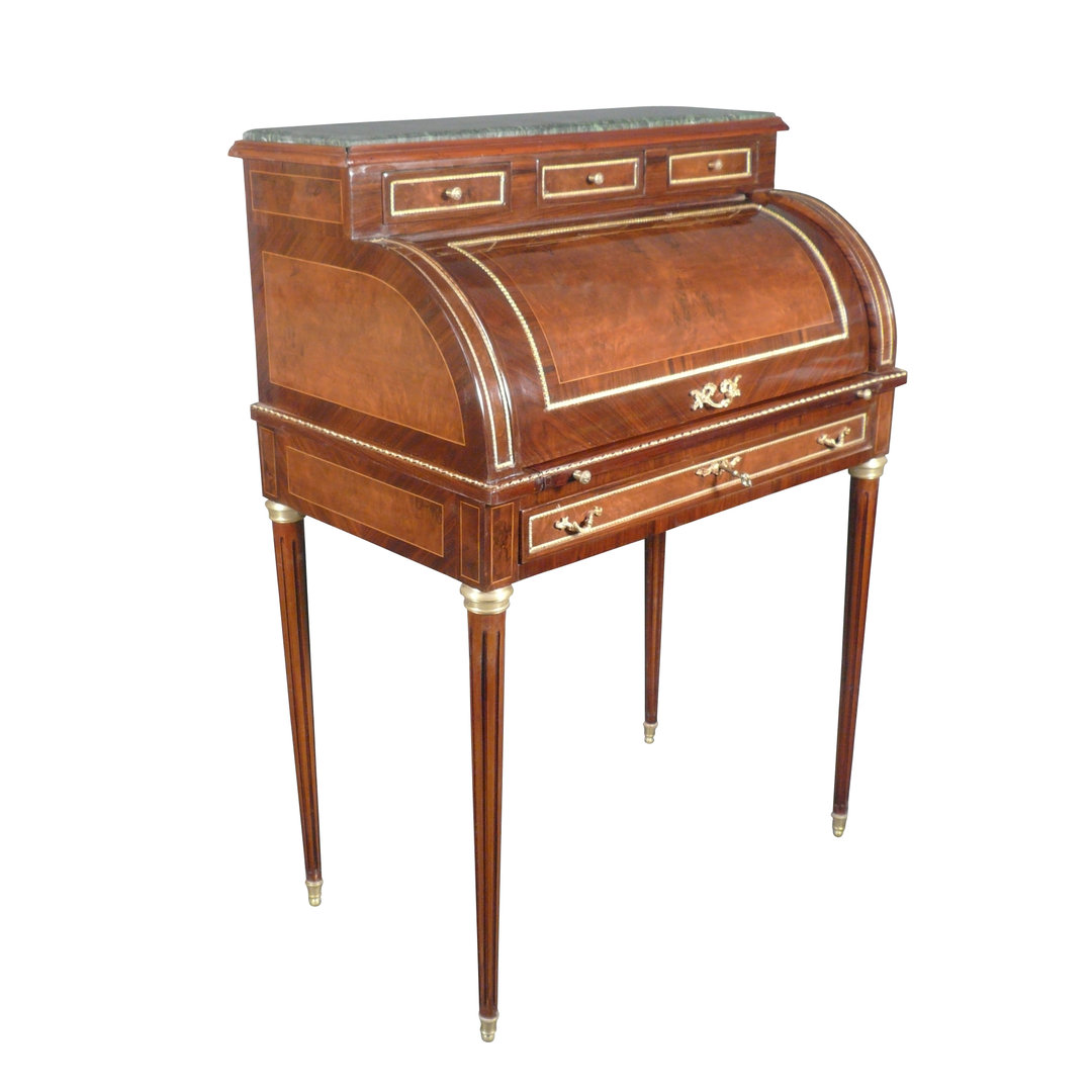 cylinder desk louis xvi style style furniture. Black Bedroom Furniture Sets. Home Design Ideas