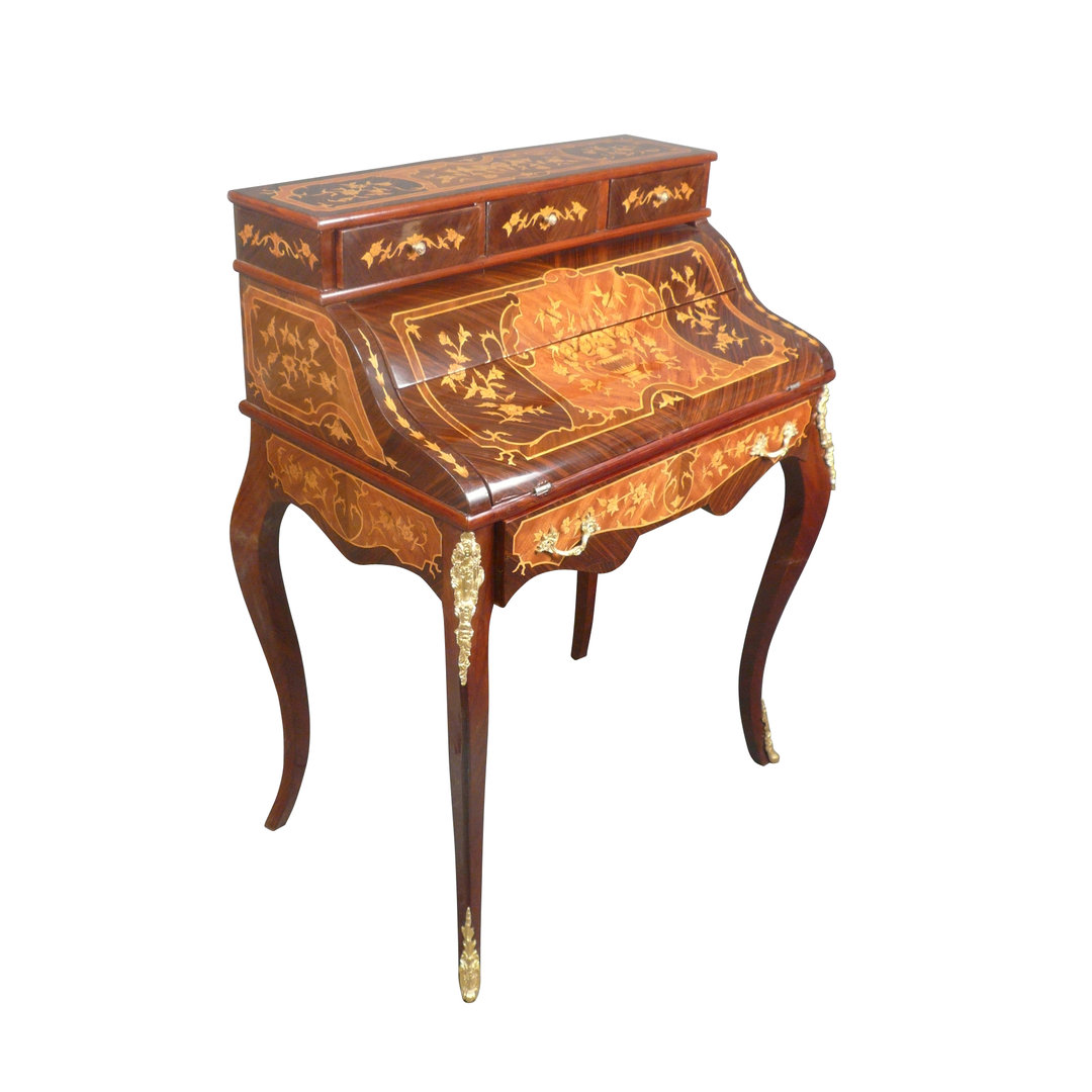secr taire louis xv en palissandre bureau style louis xv. Black Bedroom Furniture Sets. Home Design Ideas
