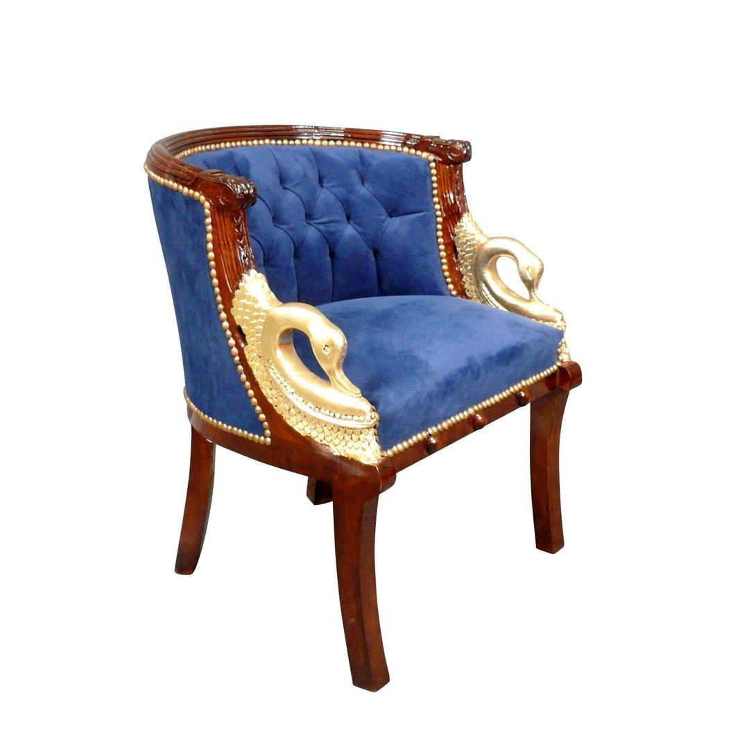 fauteuil empire cols de cygnes bleu fauteuils napol on iii. Black Bedroom Furniture Sets. Home Design Ideas