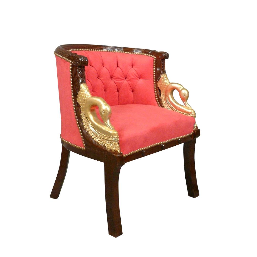 fauteuil empire cols de cygnes rouge fauteuils napol on iii. Black Bedroom Furniture Sets. Home Design Ideas