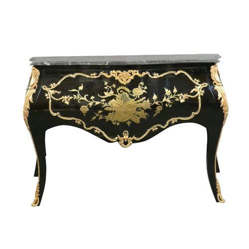 Baroque commode black 1 drawer