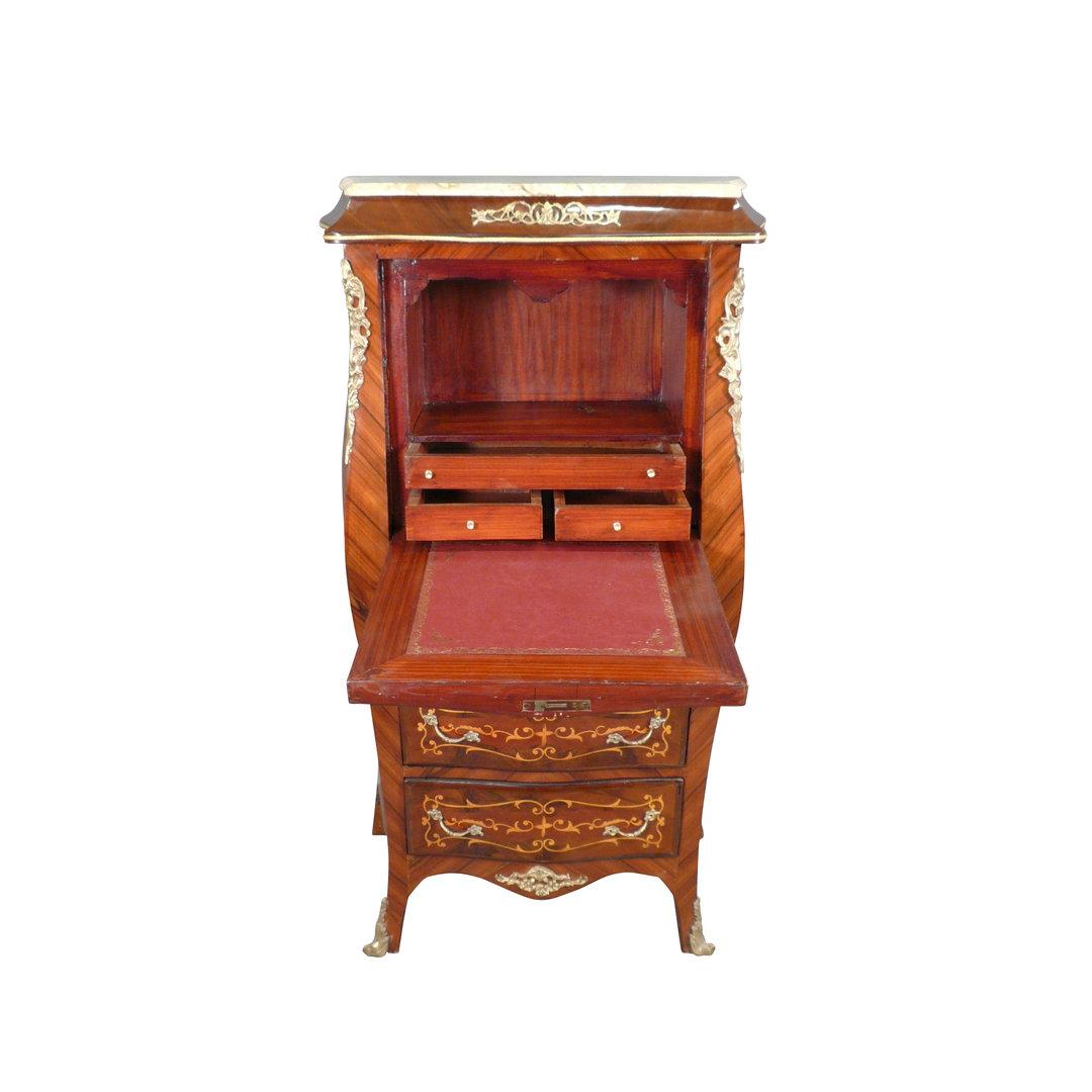 secr taire louis xv droit meubles de style. Black Bedroom Furniture Sets. Home Design Ideas