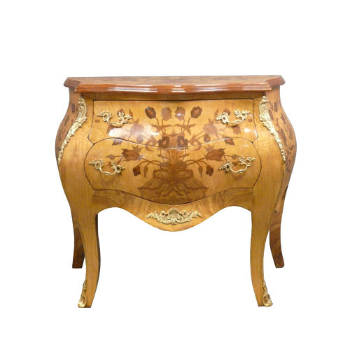 Louis XV chest of drawers with flowers decor