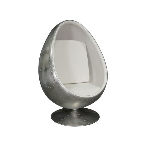 White aviator egg armchair