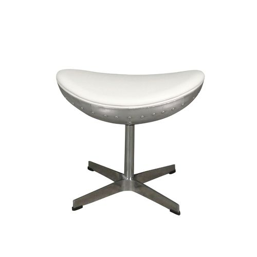 White aviator ottoman and footrest