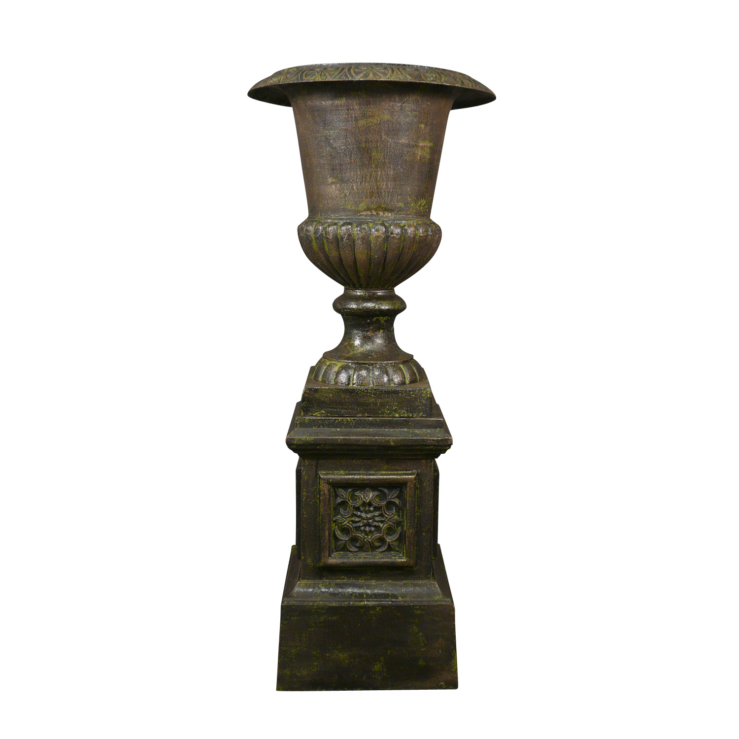 vase medicis in cast iron urn with base photo gallery vase medicis. Black Bedroom Furniture Sets. Home Design Ideas