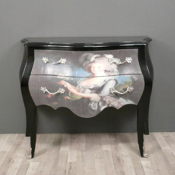 Meubles de style galerie photos bureau commodes - Commode baroque noir ...