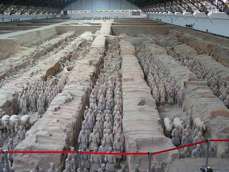 Statues of warriors of the army of Xian terracotta
